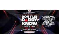 "2x tickets for ""Don't let daddy know"" Ingliston, Scotland, 2017!"