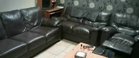 Brown Leather suite of furniture
