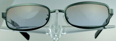 FENDI SL 7216 Sonnenbrille Grün Metall Rechteckig Herren Sunglasses Italy NEU