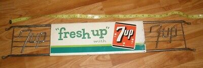 Vintage Fresh Up with 7 up Metal and Porcelain or Enamel Door Push