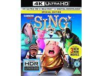SING 4K HDR Blu-ray NEW
