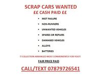 Looking to sell a scrap car?