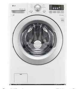 LG Washer Dryer. White. Stackable. 5.0 cu. ft and 7.4 cu. ft