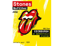The Rolling Stones, Murrayfield x2 tickets £112 face value each