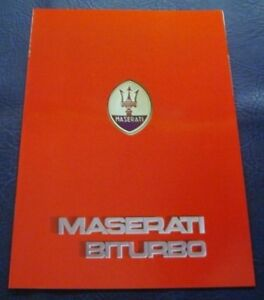 MASERATI-BITURBO-Car-Sales-Brochure-c1984-GERMAN-TEXT
