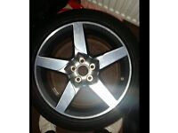 22 inch and 18 inch brand new alloys