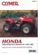 Honda Recon Manual