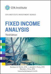 ADMS 4504 FIXED INCOME ANALYSIS  .. 3RD EDITION