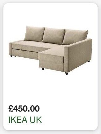Sold Ikea Friheten Corner Sofa Bed Guest Bed Futon Spare Room