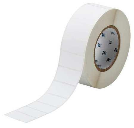BRADY THT-156-490-3 Label,White,Blank,Polyester