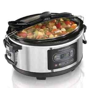NEW Hamilton Beach Slow Cooker 5 Quart Set and Forget