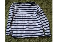Girls stripey long sleeved top