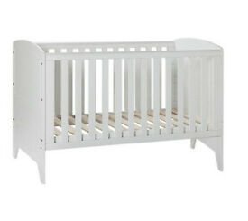 Babystart Oxford Cot Bed - White
