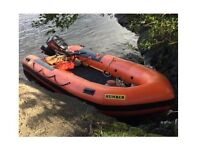 Humber 5m inflatable boat, Yamaha 40hp outboard and trailer