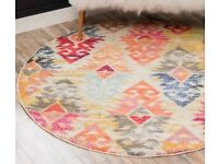Large geometric round rug BRAND NEW IN PACKAGING