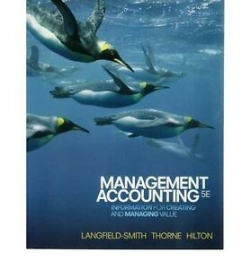 ISBN9780070139039 Management Accounting 5ed Langfield-Smith Thorn Epping Ryde Area Preview
