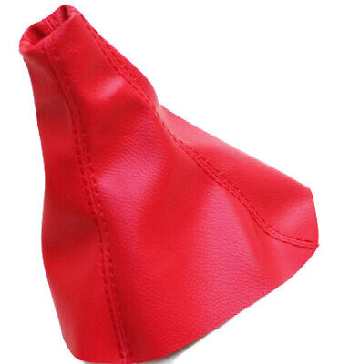 Fits 91-99 Mitsubishi 3000GT, Stealth Vinyl Manual Shift Boot Red w/Red Stitch