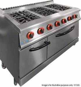 Commercial Gasmax 800 Series GASMAX Natural Gas 6 Burner Top On O Melbourne CBD Melbourne City Preview