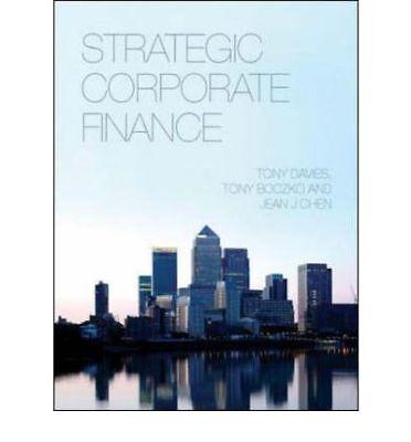 Strategic Corporate Finance, Tony Davies, Used; Very Good Book
