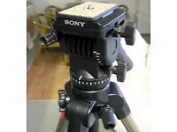 Sony VCT-1170RM High Grade Tripod w/True Fluid Head Remote Control LANC Terminal