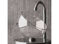 Crystal Basin from Italy MOON plus Chrome Waste with logo