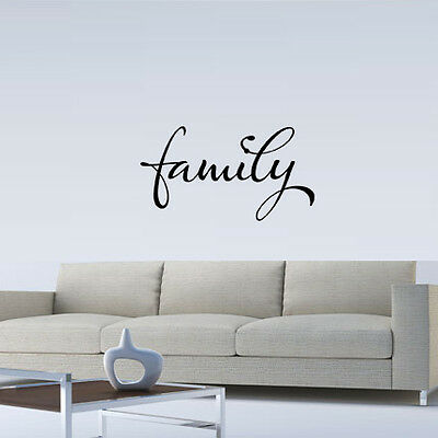 FAMILY WALL QUOTE DECAL STICKER VINYL HOME SAYING on Rummage