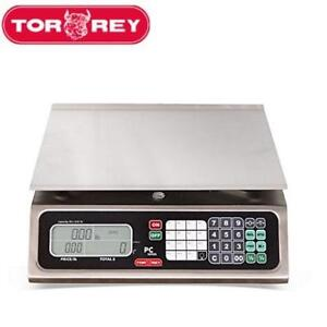 NEW TORREY ELECTRONIC PRICE SCALE PC80L 224287191 Stainless Steel Computing Steel Construction 100 Memories 80lb