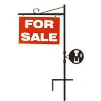 """L-shape Crane Sign Holder  24""""x 32"""" Real Estate Hanging 70.00/ea"""