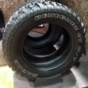 Radar Renegade Mud and Snow Tires 285/75/16 and 275/65/18