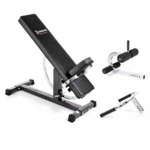 Ironmaster Super Bench with Dip and Crunch Attachments
