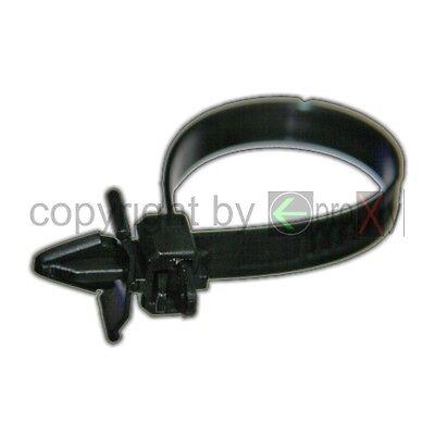 12x Kabelbinder CLIP Schwarz lösbar Schlauch Anker Halterung Ringhalter Kfz NEU