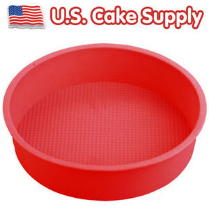 New-9-Round-SILICONE-CAKE-BAKING-MOLD-Bake-Brownie-Cake-Decorating-Dessert-Pan