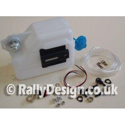 Screen Washer Kit Car Complete Kit Race Rally Bottle Pump Hose & Jets HEAD044