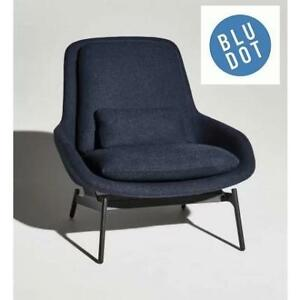 NEW BLU DOT FIELD LOUNGE CHAIR 170506639 EDWARDS NAVY FURNITURE