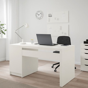 DESK - WHITE IKEA (Malm) with storage