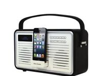 View Quest retro DAB digital radio with lightning dock