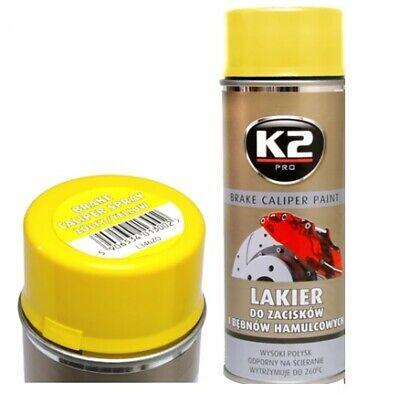 K2 BRAKE CALIPER PAINT YELLOW HIGH GLOSS 260°C Resistant Spray Lacquer - 400 mL