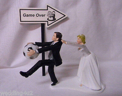 Wedding Party Reception ~Soccer Ball~  Game Over Sign Sports Cake Topper - Wedding Reception Games