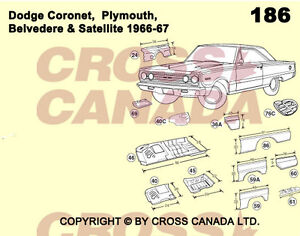 1968-1970 Dodge Coronet & Superbee Restoration Panels London Ontario image 2