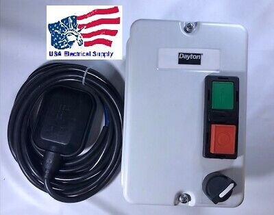 Dayton 1hp Level Control Panel Water Pump Automatic Manual 120vac 18a 1ph