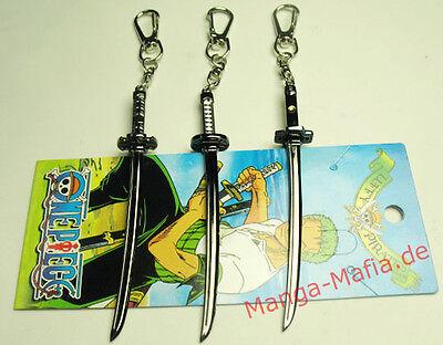 One Piece Lorenor Zorro Schwerter Anime Manga Schlüsselanhänger Keychain Set NEU