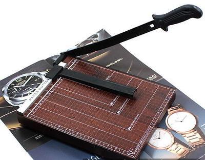 Wooden A4 Paper Document Cutting Machine Cutter Chopper Board Office New V