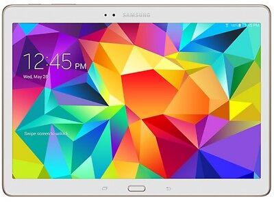 Samsung Galaxy Tab S SM-T807V 16GB, Wi-Fi + 4G Cellular (Verizon) White Tablet