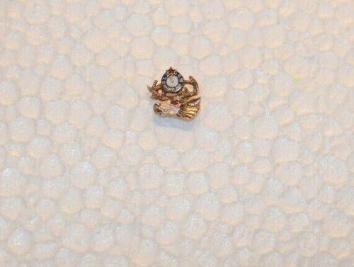 Vintage 14k Moose/Elk Lapel Pin .9 Grams