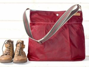 Diaper Bag - Ika Bags - waxed canvas, leather strap