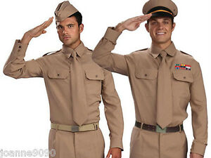 MENS-ARMED-FORCES-ARMY-WW2-AMERICAN-GI-U-S-SOLDIER-40s-1950s-FANCY-DRESS-COSTUME