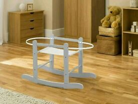 Kinder valley little gem moses basket rocking stand. Dove Grey. Brand new in box. 3 left in stock.