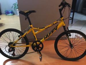 Huffy yellow kids bike