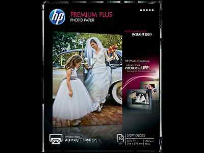 HP Premium Plus Photo Paper, soft Gloss (50 Sheets, 8.5 x 11 Inches), free ship