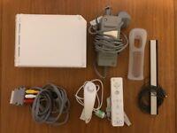 Nintendo Wii with controller, nunchuk & case